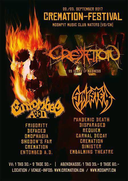 25 Years Of Madness Cremation