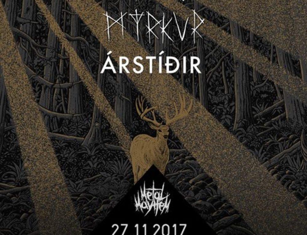 Sólstafir, Myrkur und Árstíðir – 27.11.2017